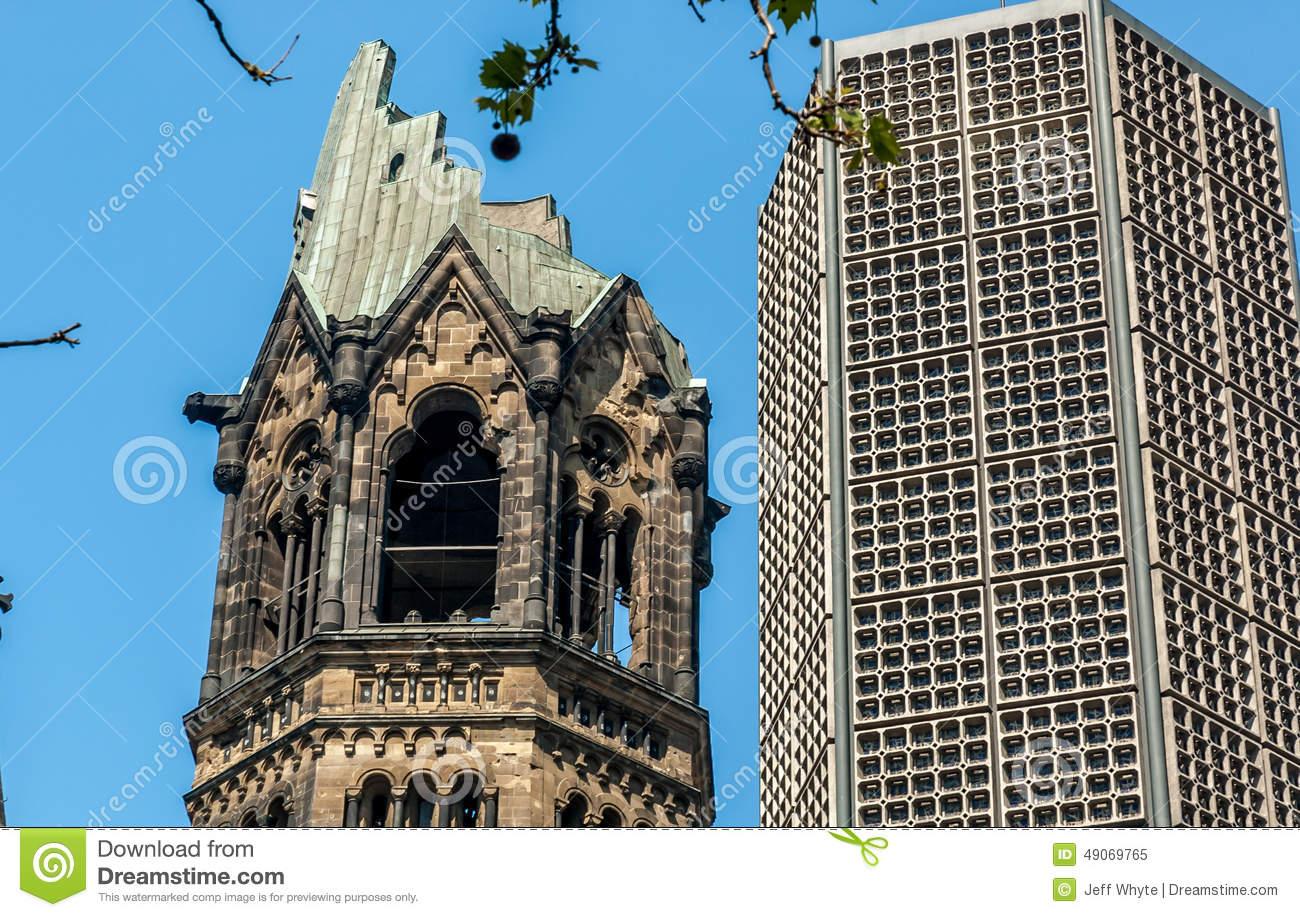 Kaiser Wilhelm Memorial Church Editorial Image.