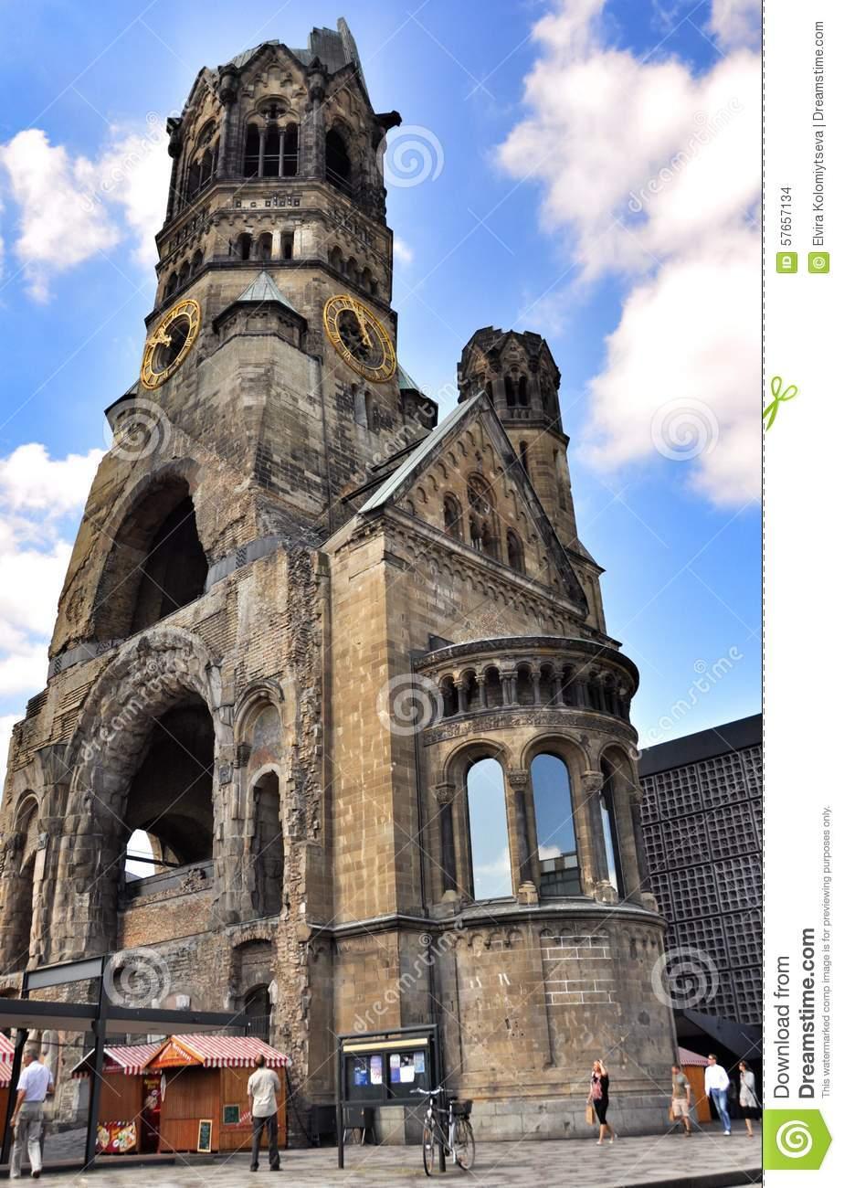 Kaiser Wilhelm Memorial Church, Berlin Germany Editorial Stock.