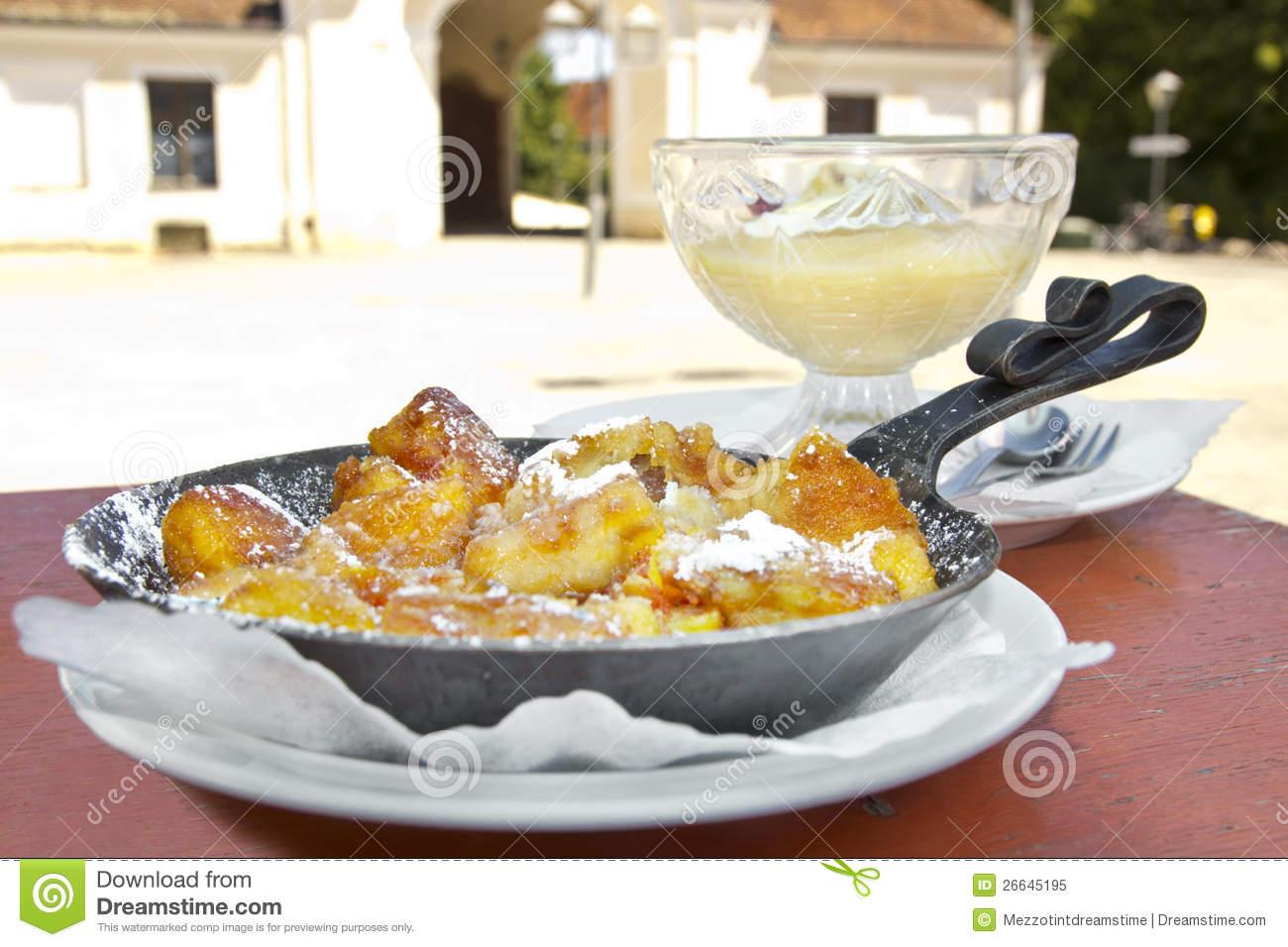 Kaiserschmarrn (traditional Austrian Pancake) With Sugar Powder.