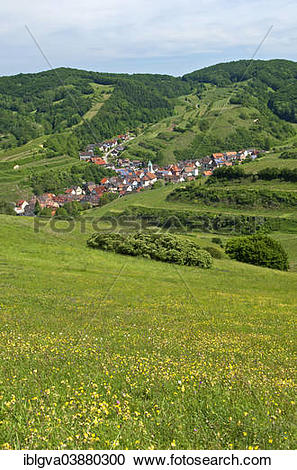 """Stock Photography of """"View from Mt Badberg of the village of."""