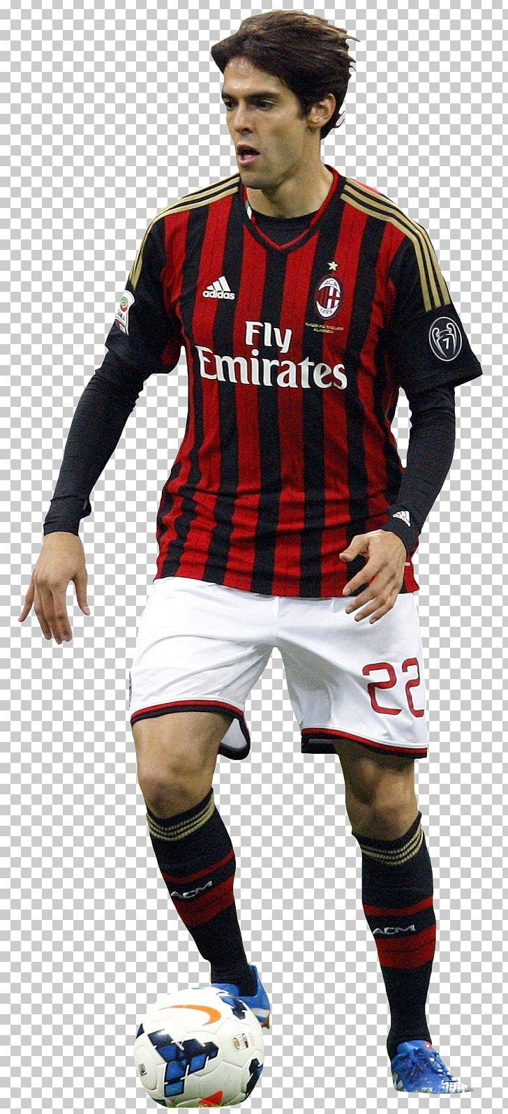 Kaká A.C. Milan Jersey Rendering PNG, Clipart, A.c. Milan, Ac Milan.