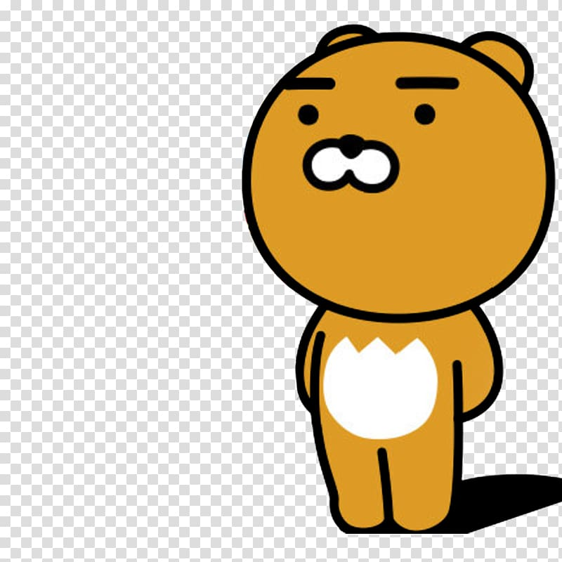 Bear illustration, KakaoTalk Kakao Friends Friends Pop.