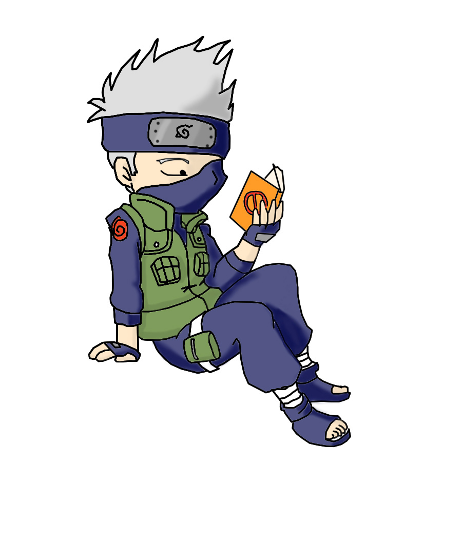 Kakashi chibi colored by crochetamommy on DeviantArt.