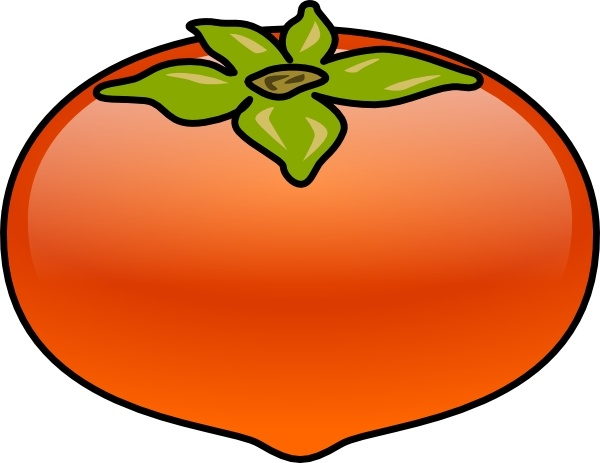 Kaki Persimmons clip art Free vector in Open office drawing svg.