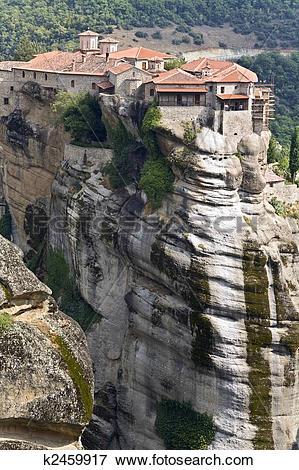 Picture of Orthodox, monastery at Meteora near Kalambaka in Greece.