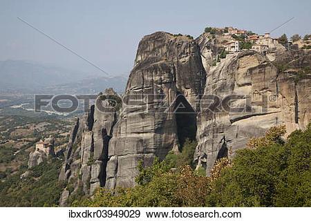 "Stock Photograph of ""Meteora Monasteries, UNESCO World Heritage."