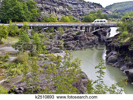 Stock Photo of Bridge at central Greece (near Kalambaka village.
