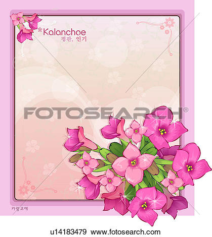 Stock Illustration of template, nature, kalanchoe, templet, plant.