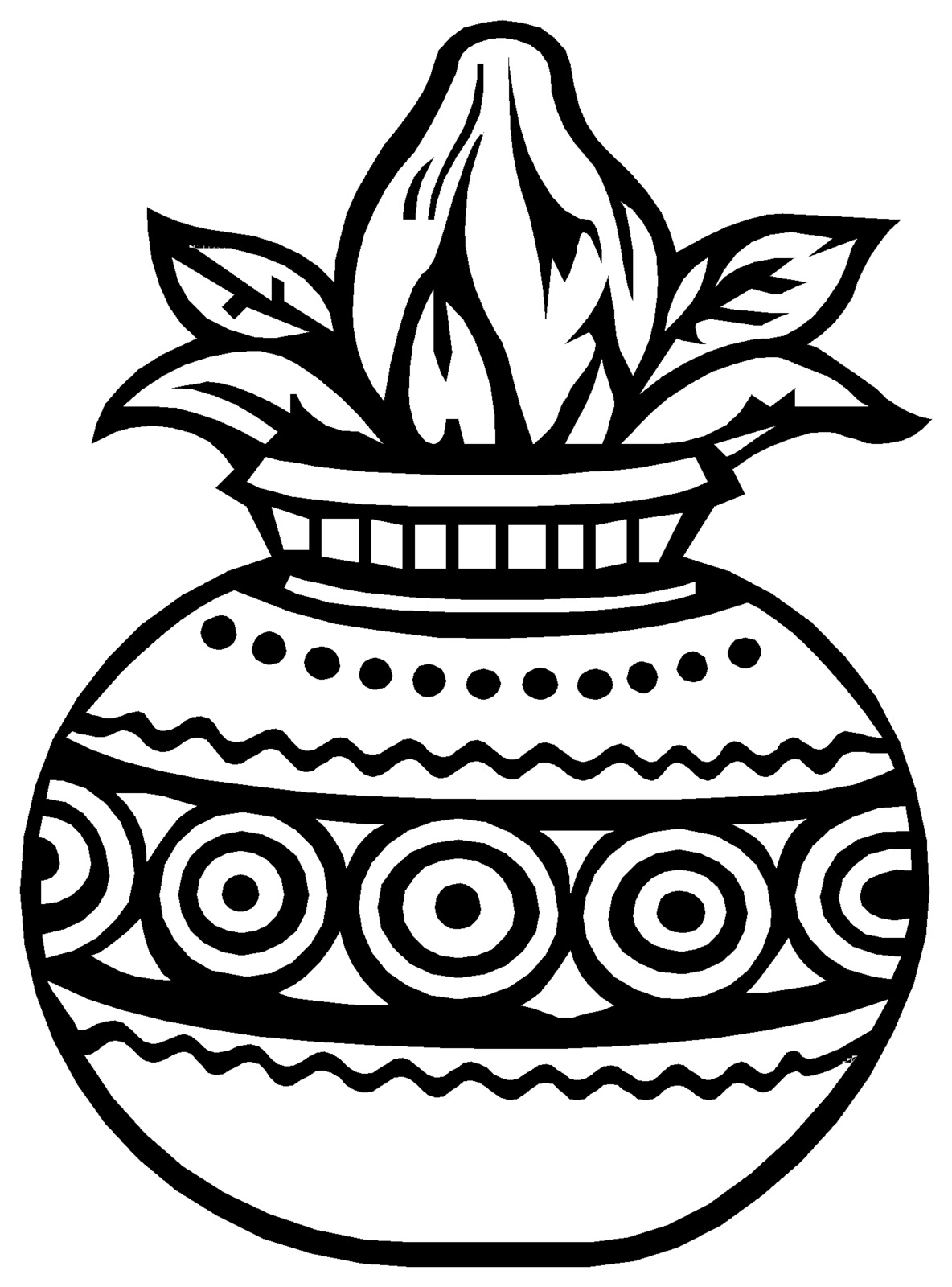 Kalash clipart black and white 8 » Clipart Station.