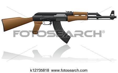 Clip Art of automatic machine AK.