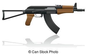 Kalashnikov Clipart Vector Graphics. 199 Kalashnikov EPS clip art.