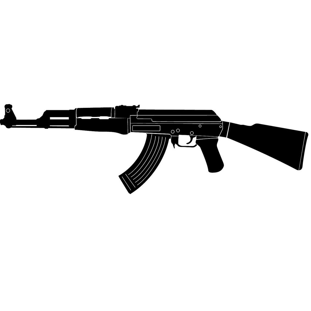 AK 47 Kalashnikov Vector Image.