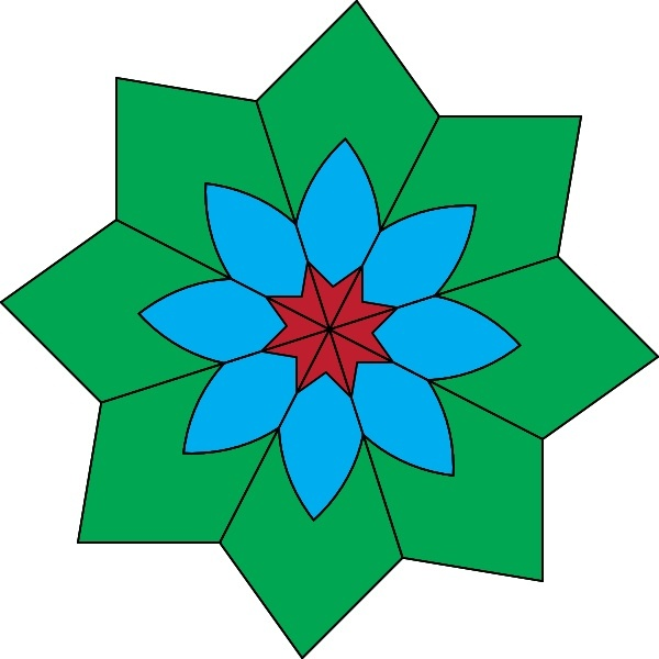 Kaleidoscope clip art Free vector in Open office drawing svg.