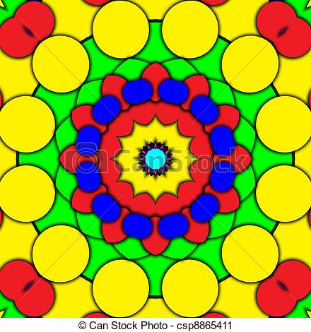 Clipart of Colour Kaleidoscope.