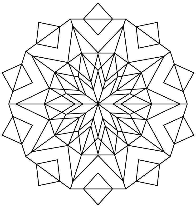 Kaleidoscope PNG Free Download.