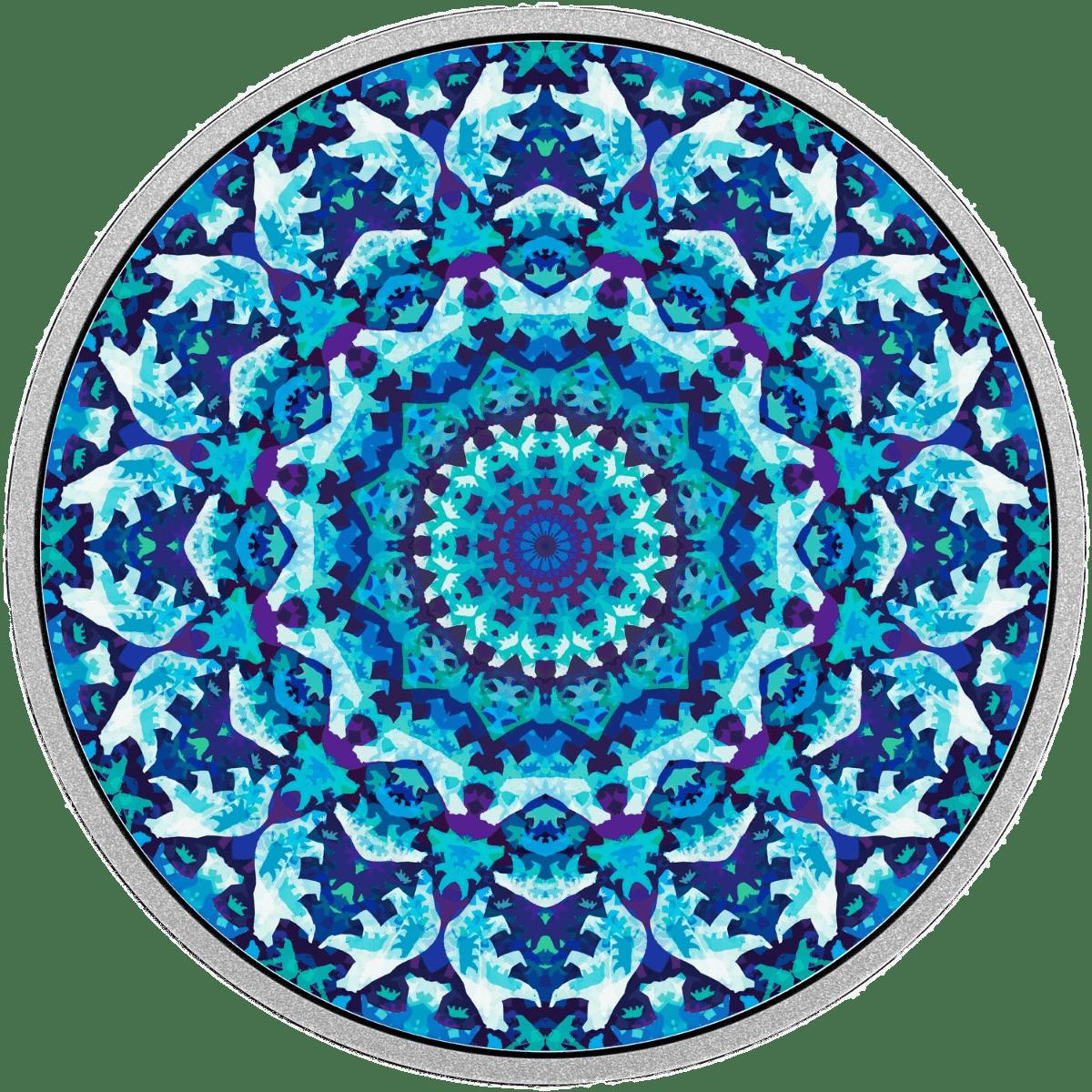 Icebear Kaleidoscope transparent PNG.