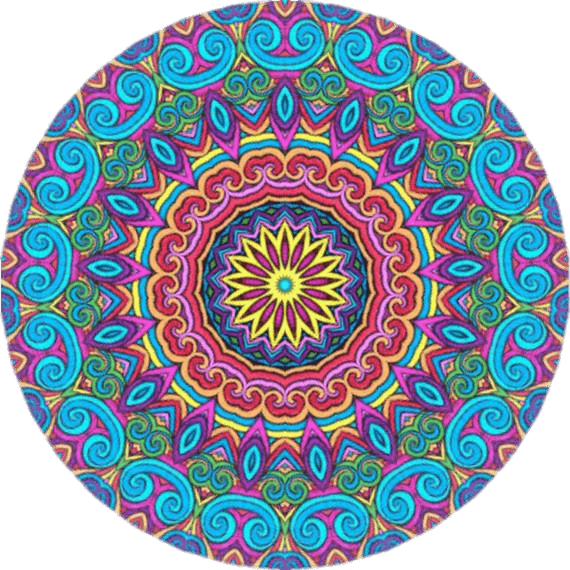 Moroccon Inspired Kaleidoscope transparent PNG.