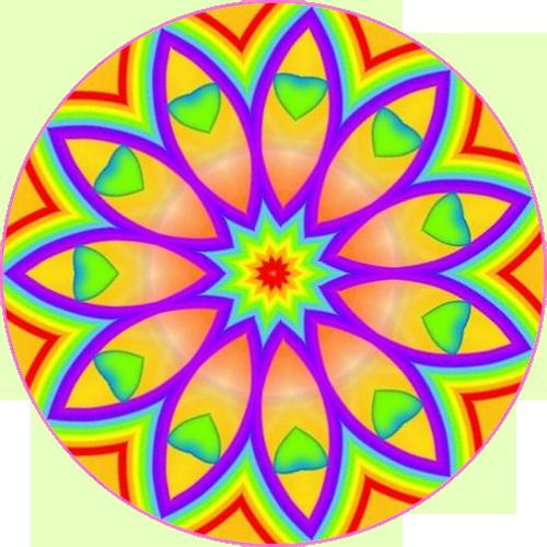 Kaleidoscope PNG Background Image.