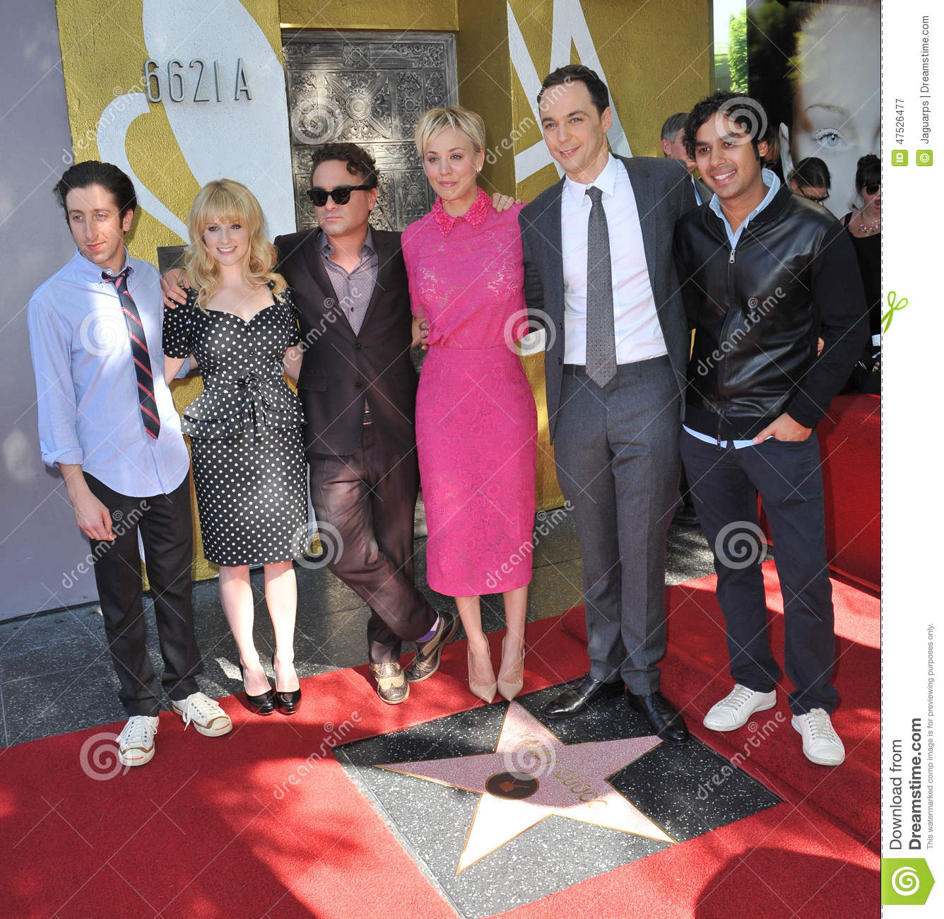 Kaley Cuoco & Cast Of The Big Bang Theory Editorial Photography.