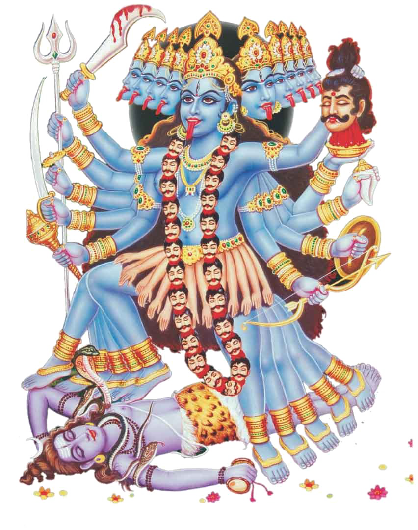 Kali Mata PNG Image Background.