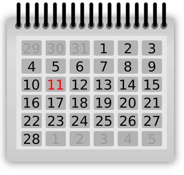 Hawk Calendar Clip Art at Clker.com.