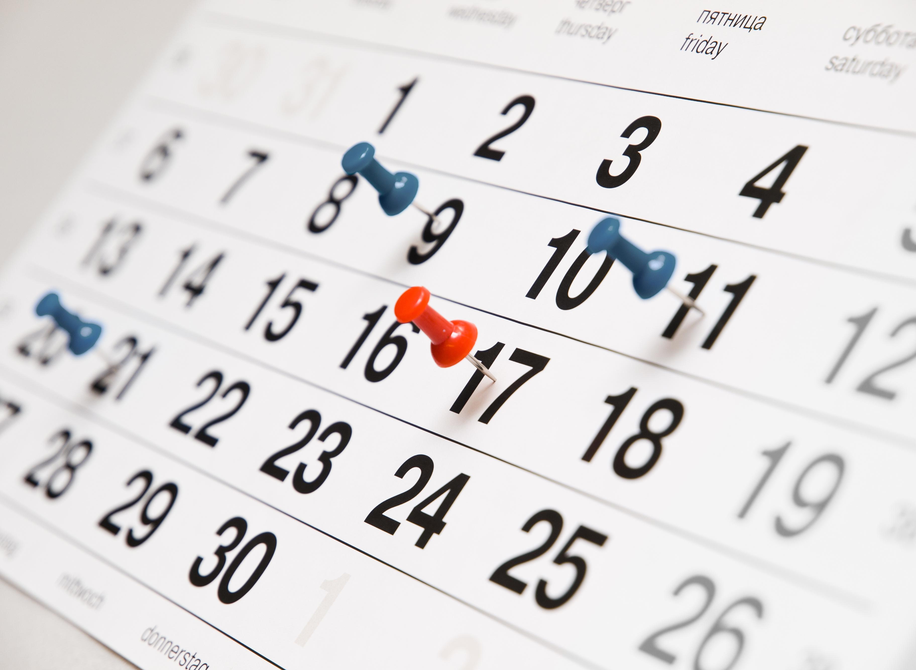Due Date Calendar Clipart.