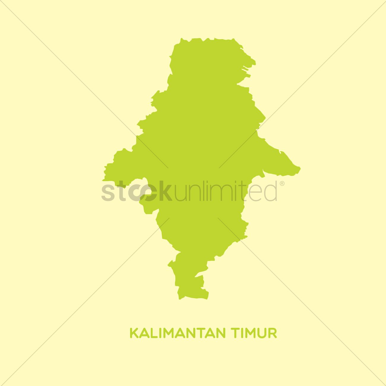 Map of kalimantan timur Vector Image.