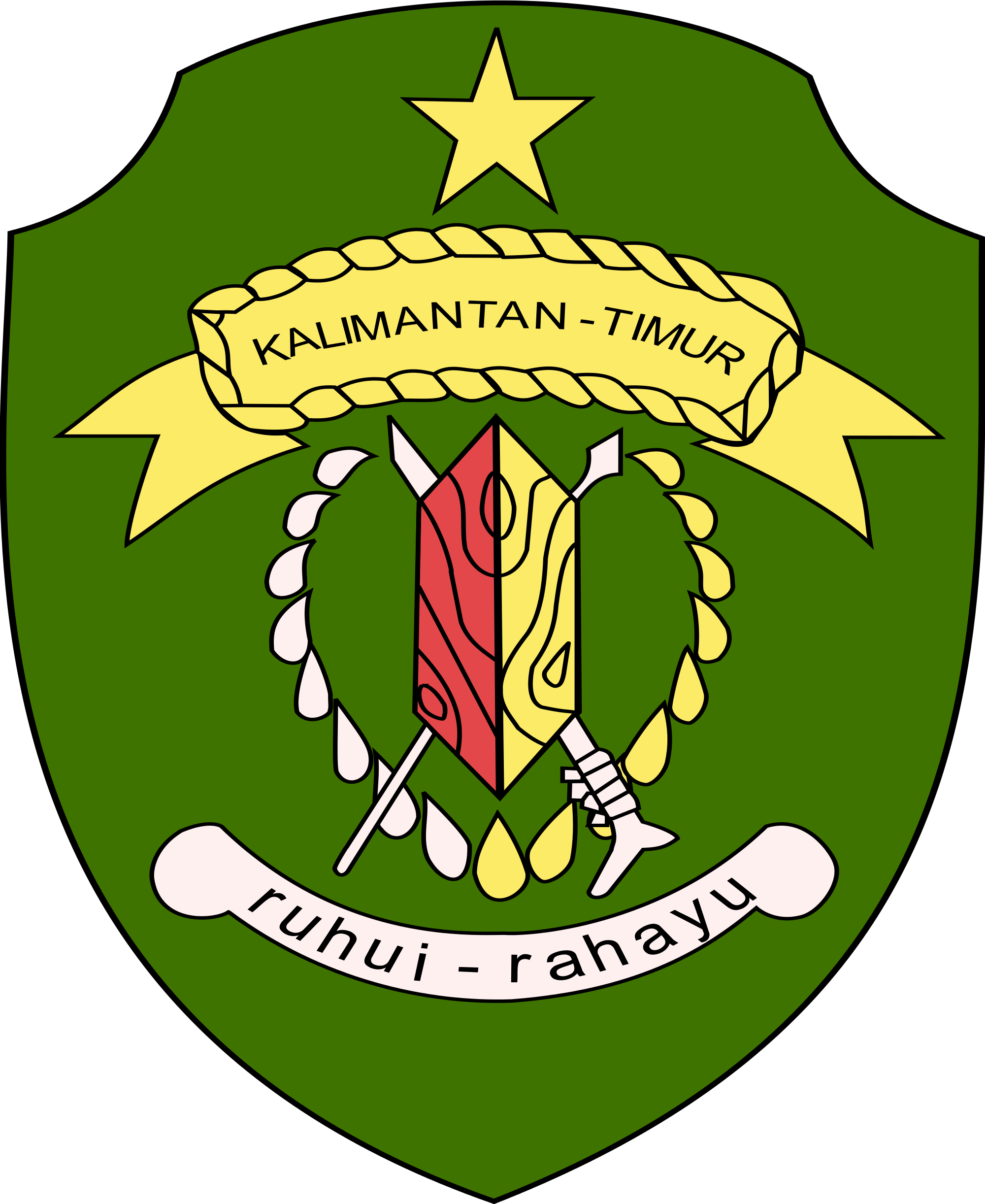 File:Coat of arms of East Kalimantan.svg.
