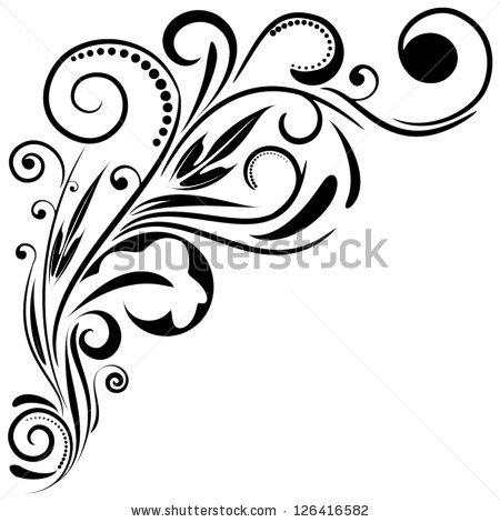 Floral Swirl Vector Art.
