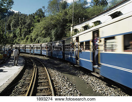 Stock Photo of Narrow Guage Train From Shimla To Kalka 1893274.
