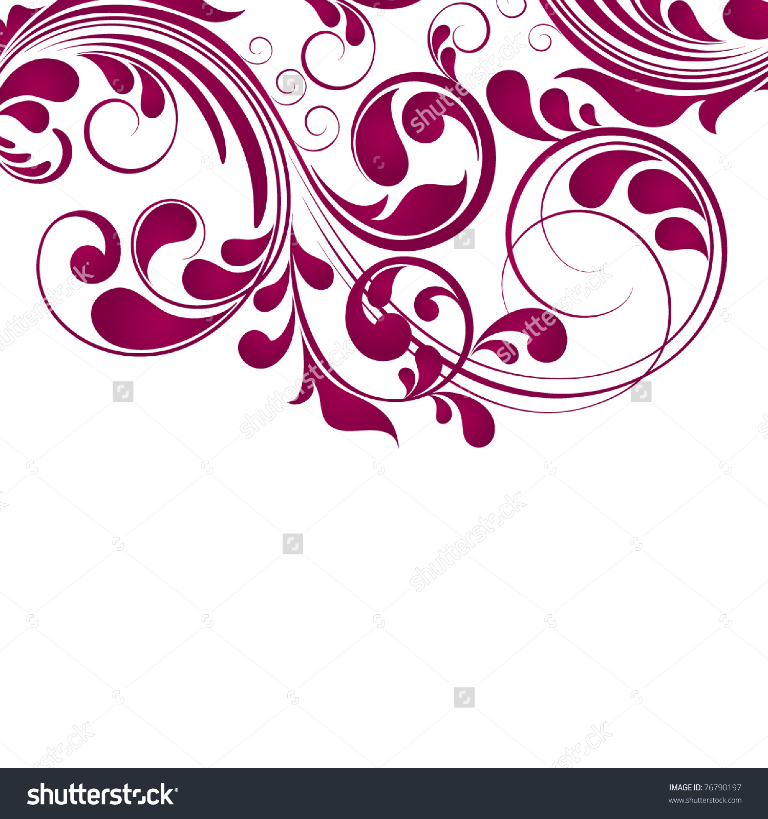 Abstract Floral Background Stock Vector 76790197.