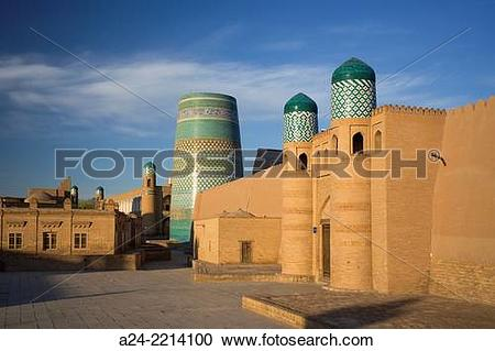 Stock Photography of Uzbekistan ,Khorezm Region, Khiva City (W.H..