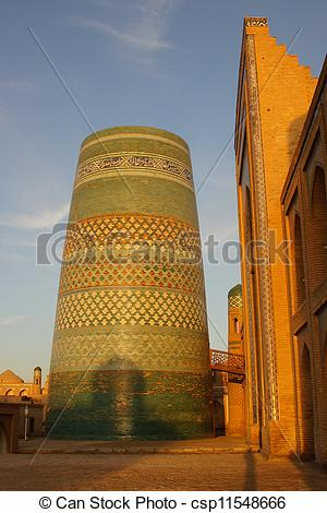Stock Image of Kalta Minor, Chiwa, Usbekistan.