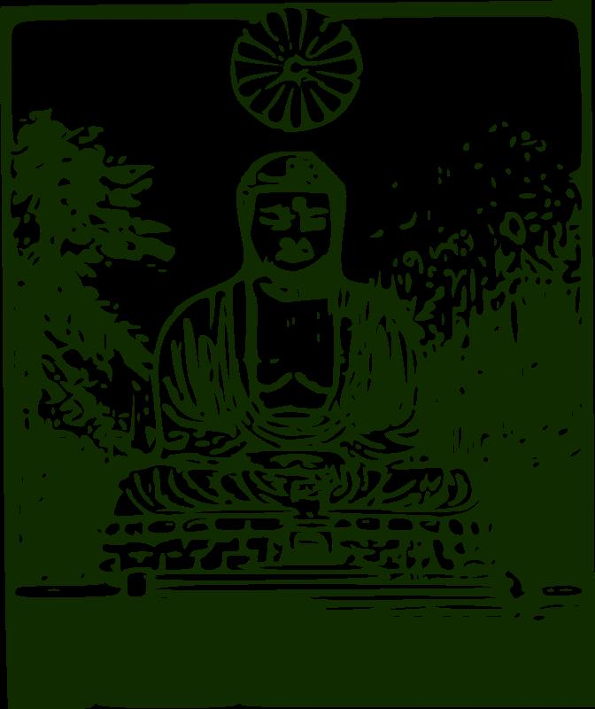 Free Clipart: Kamakura Daibutsu.
