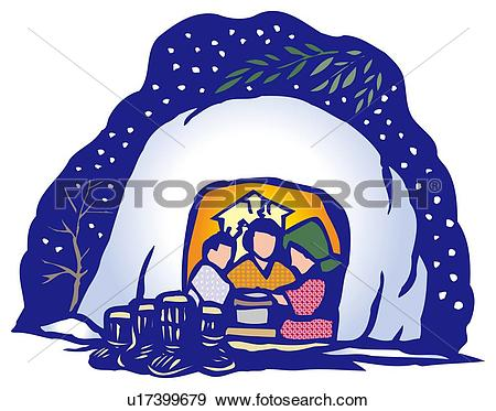 Stock Illustration of Kamakura, Woodcut, Aomori Prefecture, Japan.