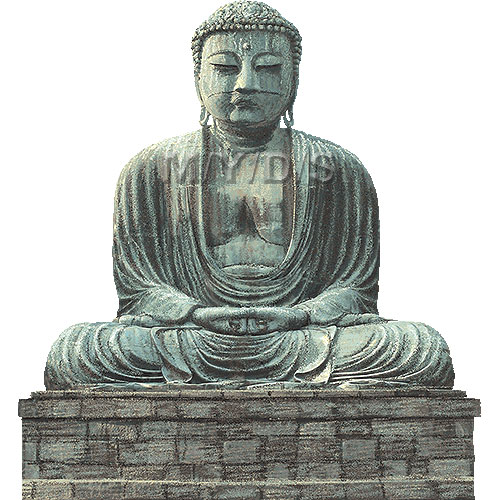 Kamakura Great Buddha clipart / Free clip art.