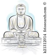Kamakura Clip Art Illustrations. 11 kamakura clipart EPS vector.