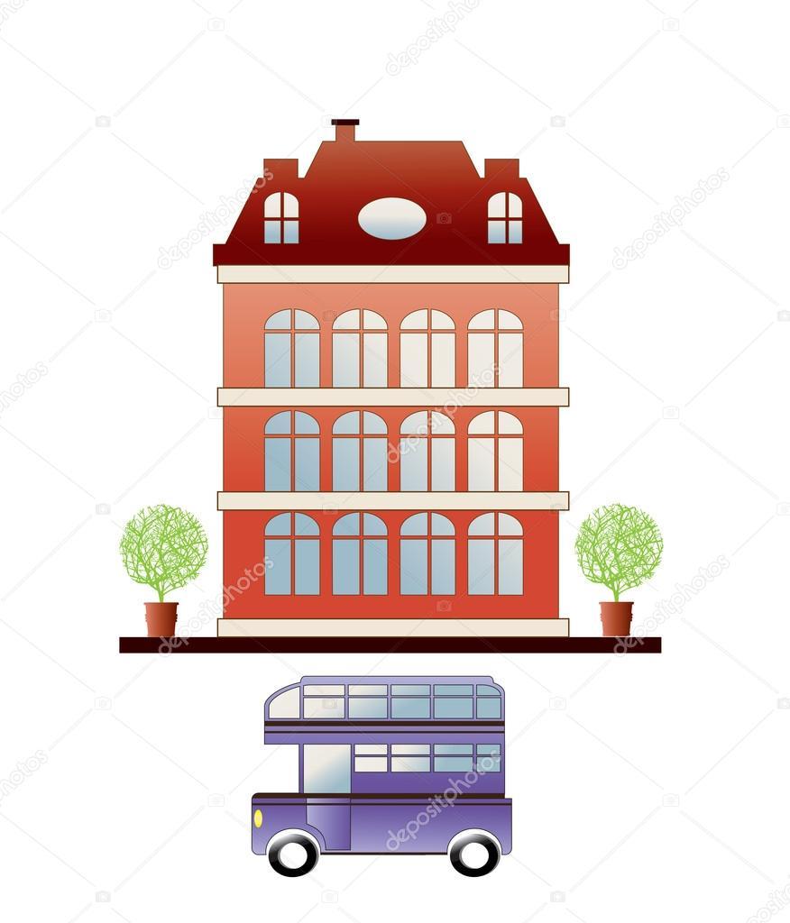 City house — Stock Vector © alexzel21 #5672165.