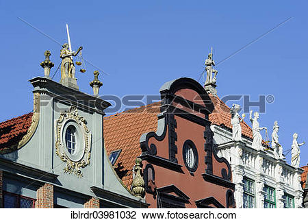 """Stock Photo of """"Schoffenhaus, Dom Lawnikow left, and Golden House."""
