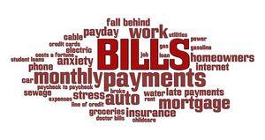 Monthly bills clipart.