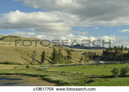 Stock Photo of Kamloops, British Columbia, Canada, Route 5A.