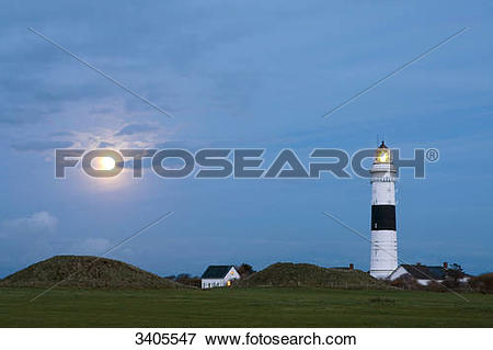 Picture of View of the lighthouse in Kampen, Sylt, Germany 3405547.