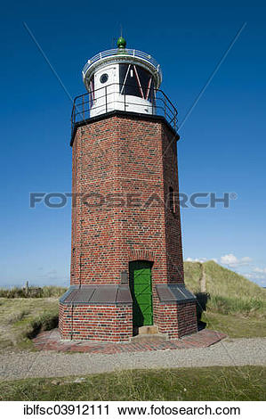 """Stock Photography of """"Rotes Kliff Lighthouse, near Kampen, Sylt."""