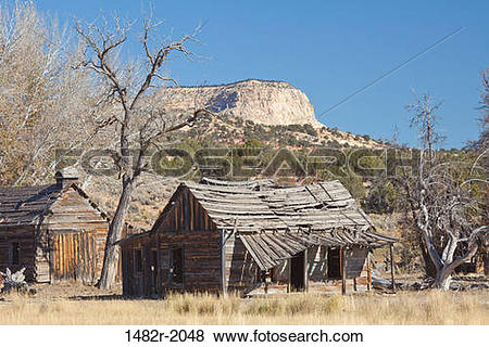 Pictures of Abandoned houses in a ghost town, Johnson Canyon.