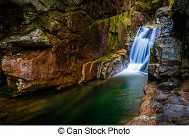Stock Photo of Sabbaday Falls, along the Kancamagus Highway in.