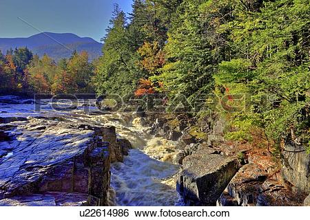 Stock Images of Rocky Gorge, Swift River, along Kancamagus Highway.