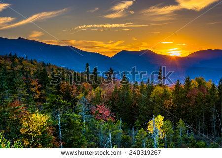 White Mountains New Hampshire Stock Photos, Royalty.