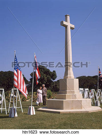 Stock Photo of Thailand, Kanchanaburi, War Graves htn1623.