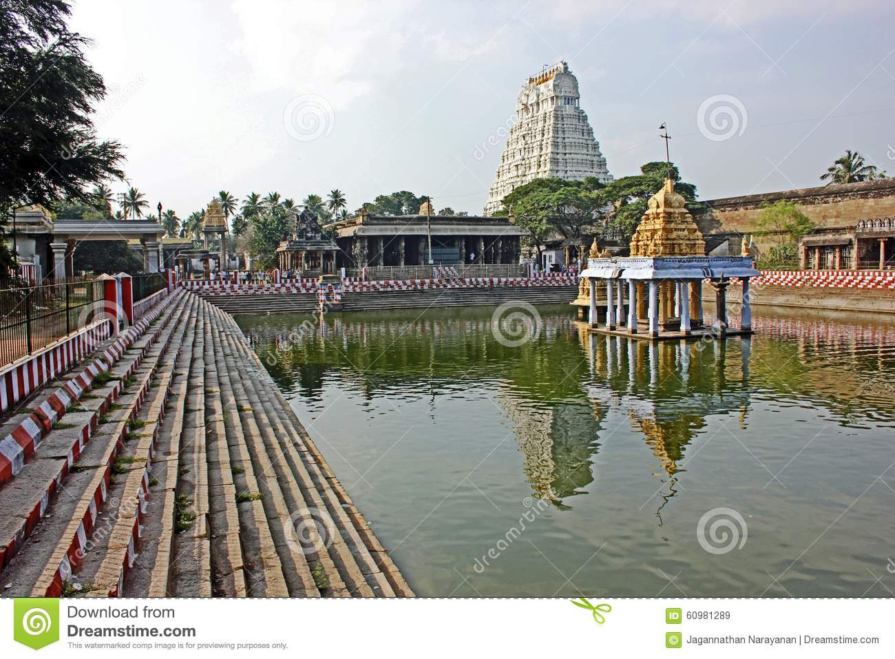 Varadaraja Swamy Temple At Kanchipuram, Tamilnadu, India Editorial.