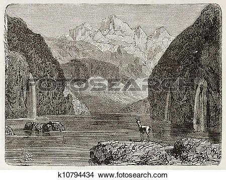 Drawings of Kandel Steig lake k10794434.
